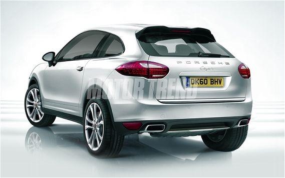 Porsche Cajun Crossover Rear Illustration Photo 2