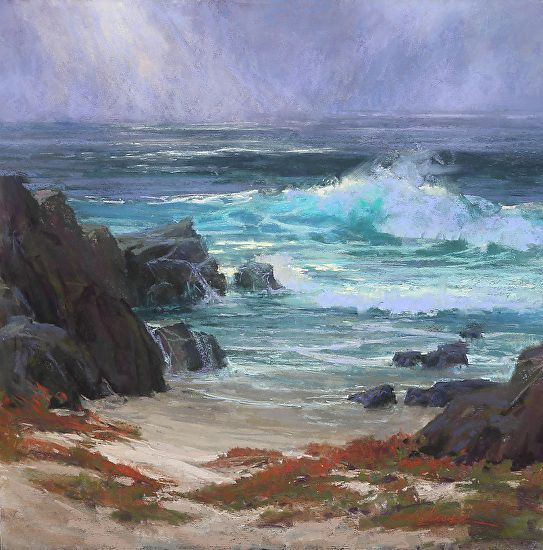 Restless  in Asilomar by Kim Lordier Pastel ~ 24 x 24
