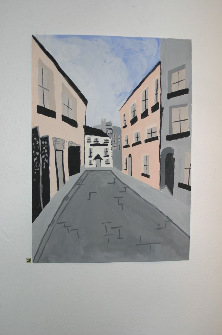 29.	Amy Mc Dowell, 'Medieval Street of Waterford City', Acrylic on Paper, POA.