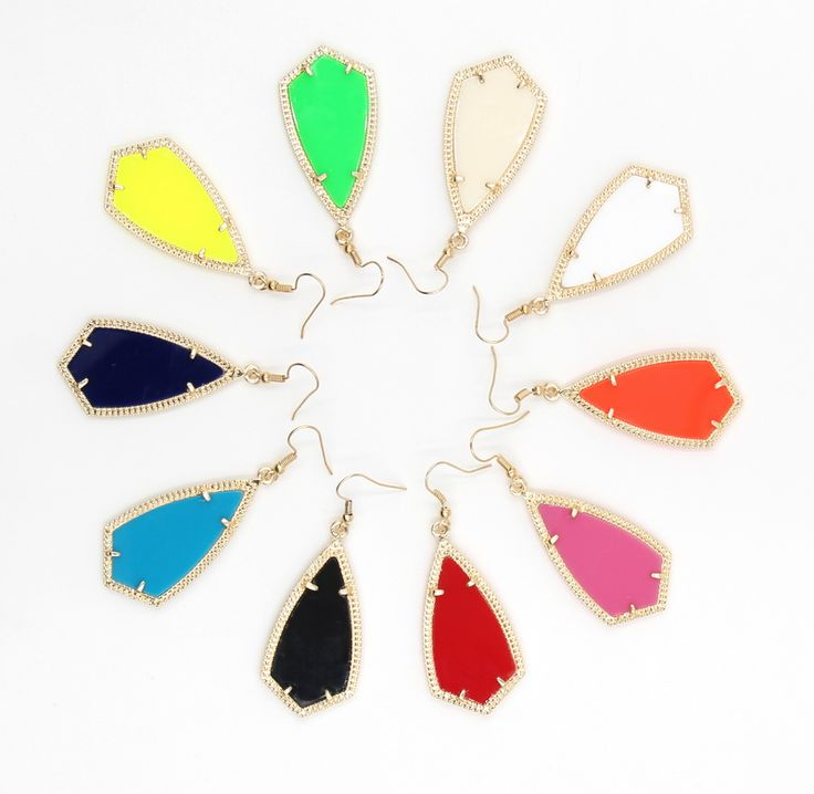 2016 New Kendra Style Arrow Shape Women Classic Water Drop Earrings More colors available