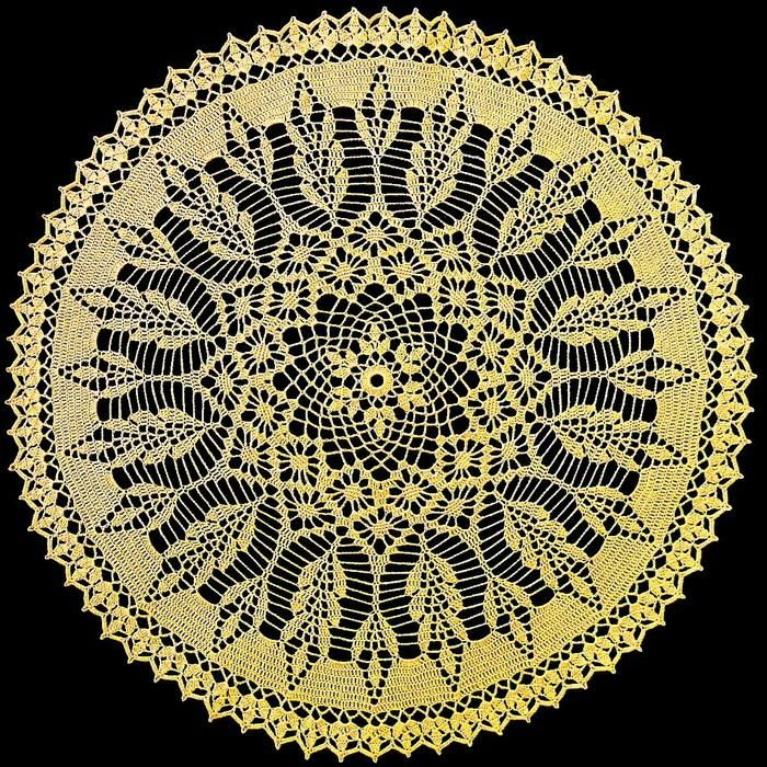 Crochet Art: Crochet Pattern Of Beautiful Lace Doily