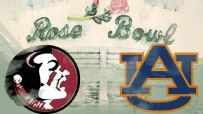 No. 1 Florida State and No. 2 Auburn will play in the VIZIO BCS National Championship at Rose Bowl Stadium January 6, 2014