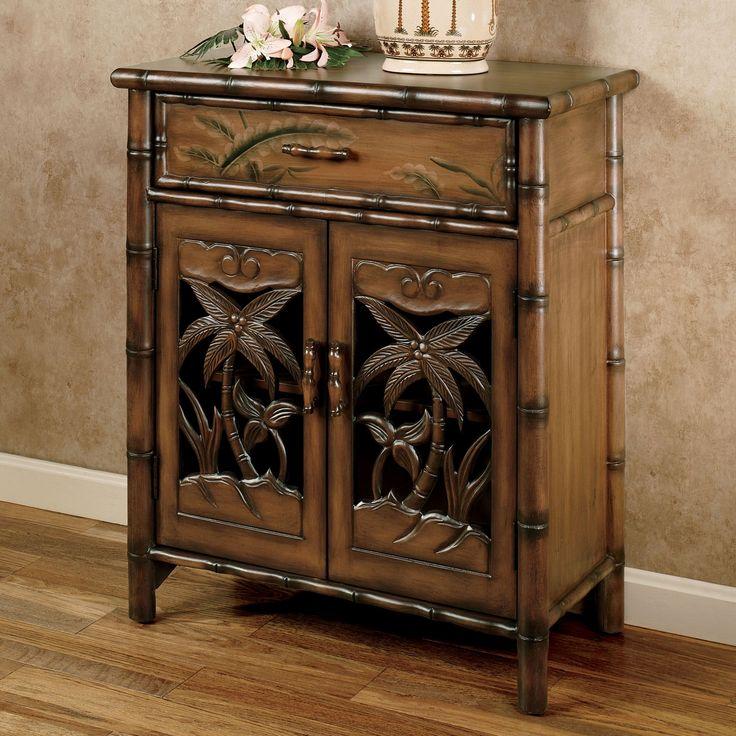 Tropical Storage Cabinet Honey Maple