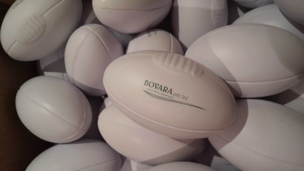 Stress Shape Rugby Balls with Printing