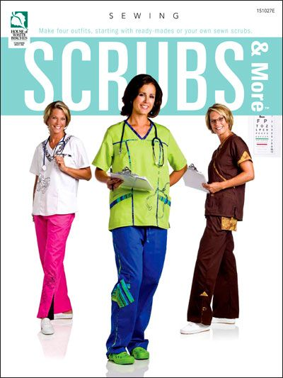 Scrubs are for everyone! Personal style is the way to go these days! With this e-book, you can make 4 outfits starting with ready-made or your own sewn scrubs. Enjoy wearing scrubs that make you and those around you feel happy. Not just for medical personnel, the casual and comfortable nature of scrubs translates well to lounge wear and can be found in use at spas, retreats and clinics of all types. Instructions are included for a water-bottle cozy and ID pouch as well as a tech-holder $7.95