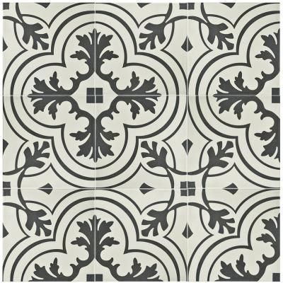 Merola Tile Twenties Vintage 7-3/4 in. x 7-3/4 in. Ceramic Floor and Wall Tile-FRC8TWVT - The Home Depot