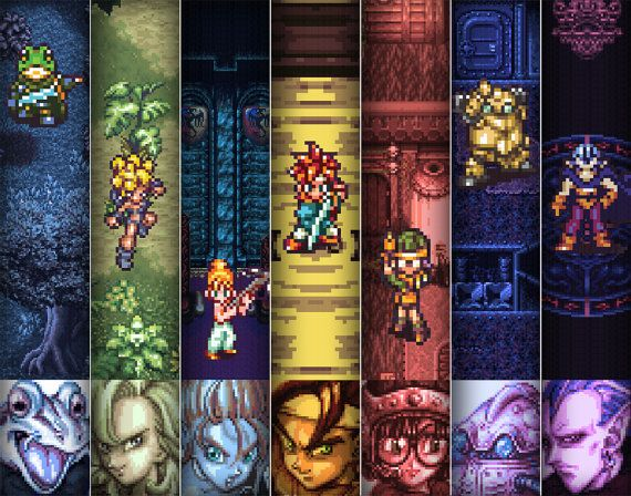 Video Game Art Chrono Trigger Digital Art Print by arcadecache