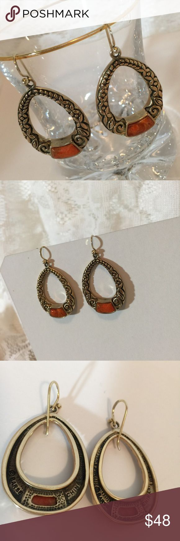 Barse Sponge Coral Bronze Earrings Barse Sponge Coral Bronze Earrings! 2 inch dangle! Excellent Quality! Earrings are very nice and not costume jewelry.  Received as gift but never worn!   Barse Jewelry is designer sterling silver and bronze with a focus on stones, especially through custom cuts and placements. Every piece designed will bear an unusual detail that reveals the special touch that Barse fans love.  Barse Jewelry is designed locally in Dallas, TX and sold in fine department…