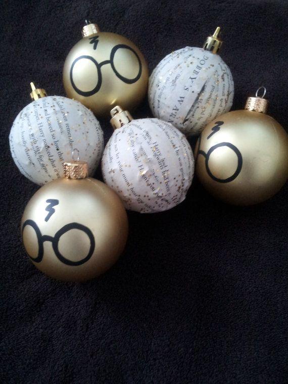 Harry Potter Ornaments. #HarryPotter #Christmas #ChristmasOrnaments