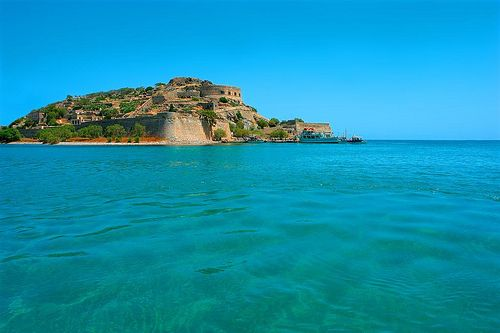 Elounda, Crete, Greece - the tiny Spinalonga Island