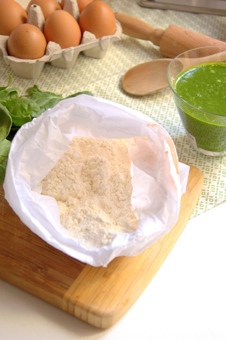 Como hacer pasta fresca de espinacas paso a paso