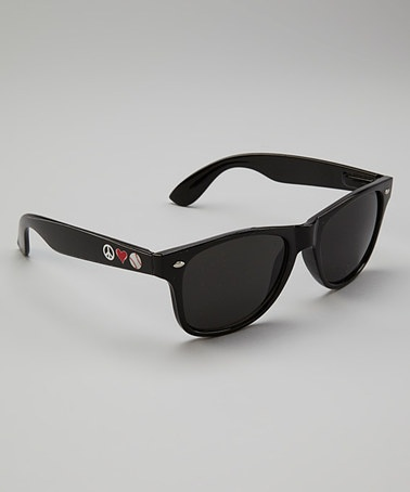 Take a look at this Black Peace Love Baseball Sunglasses by From the Heart on #zulily today!