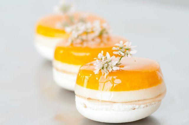 Mango Coconut Macarons