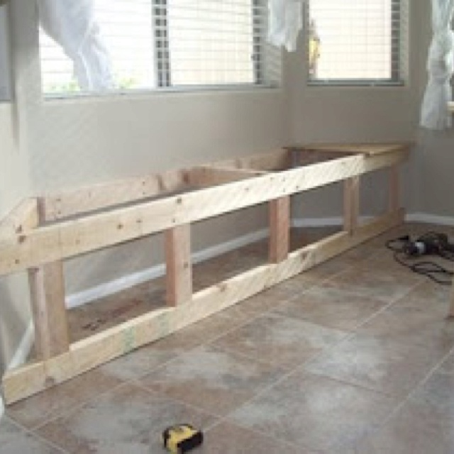 Construction DIY Bench For Any Bay Window  Http://itsthelittlethingsthatmakeahouseahome.blogspot.ca