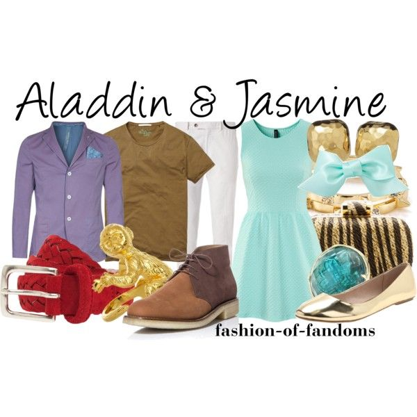 """Aladdin and Jasmine"" by fofandoms on Polyvore"