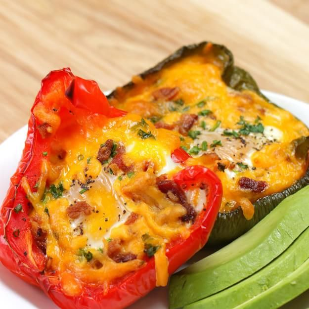 Impress Just About Anyone's Taste Buds With These Baked Eggs In Peppers