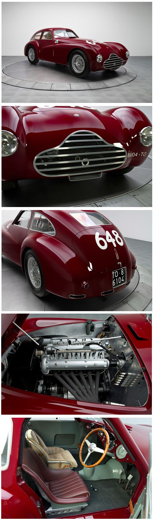 1950 .. Mille Miglia , an Alfa Romeo 6C 2500 Competizione driven by Fangio and Zanardi finished 3rd o/a.