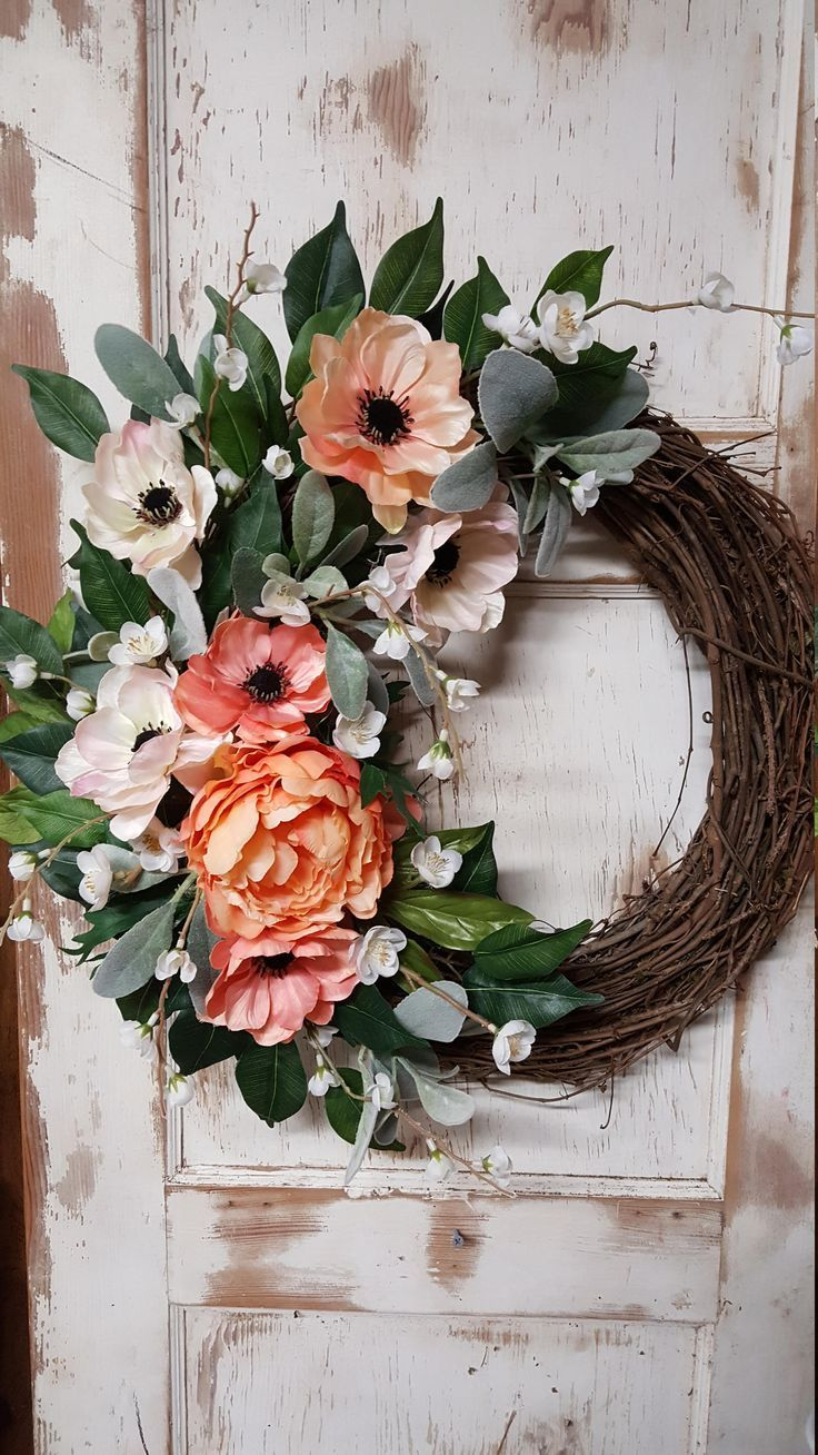 Front door Wreath, READY TO SHIP Only 1 available, Front door wreath, hydrangea, Wreath - Wreath Great for All Year Round, Door Wreath by FarmHouseFloraLs on Etsy