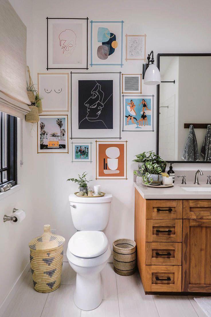 Washroom Wall Decor - Zeltahome.com  Small living room decor