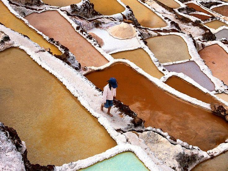 Salt Flats - PeruCusco Peru, Sacred Valley, Salts Flats, Valle Sagrado, Water Evaporated, South America, Travel, Salts Collection, Hillside Pools