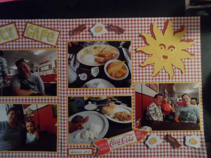 City Cafe Scrapbook page by Carol Robertson White