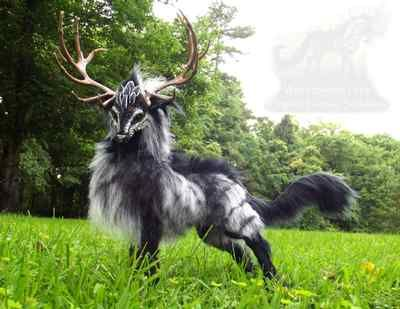 Hand Made Posable Fantasy Thunder Stag | eBay. I dream of owning this. H