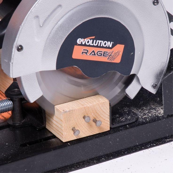 Evolution Rage4 185mm afkortzaag metaal/alu/hout | Afkort & verstekmachines | Elektrisch gereedschap