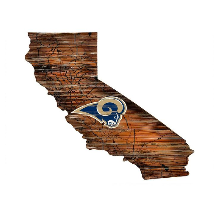 NFL Los Angeles Rams State Shape Logo Sign