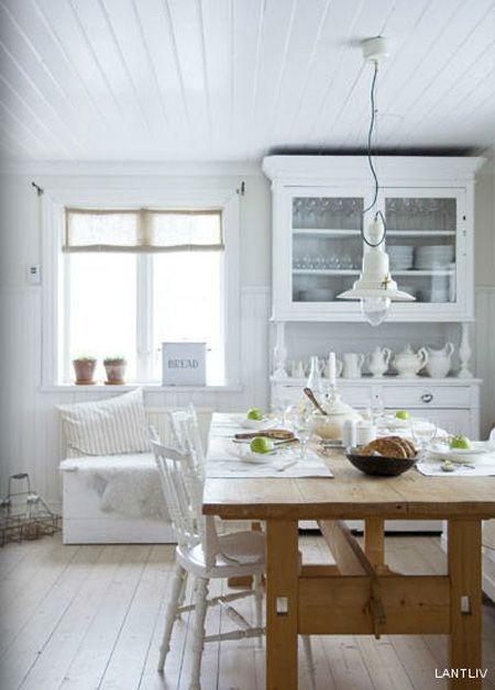 Cuisine classique du photographe Magdalena Björnsdotter. Mélange #bois et blanc.
