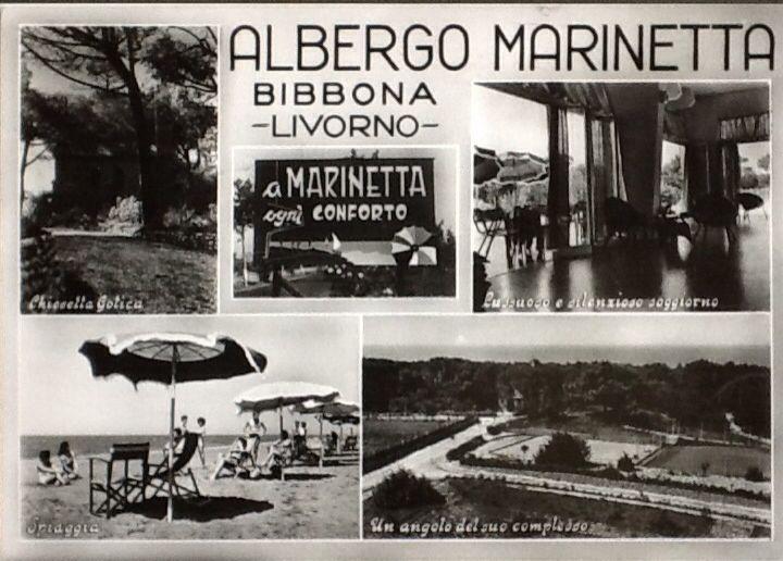 Una cartolina storica di come era il nostro Hotel qualche anno fa... #hotelmarinetta #marinadibibbona  #spiaggia #toscana #toskana #tuscany #amarcord