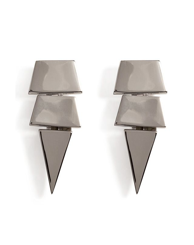 Jagged drops lend these silver earrings from Eddie Borgo a fierce finish #Stylebop