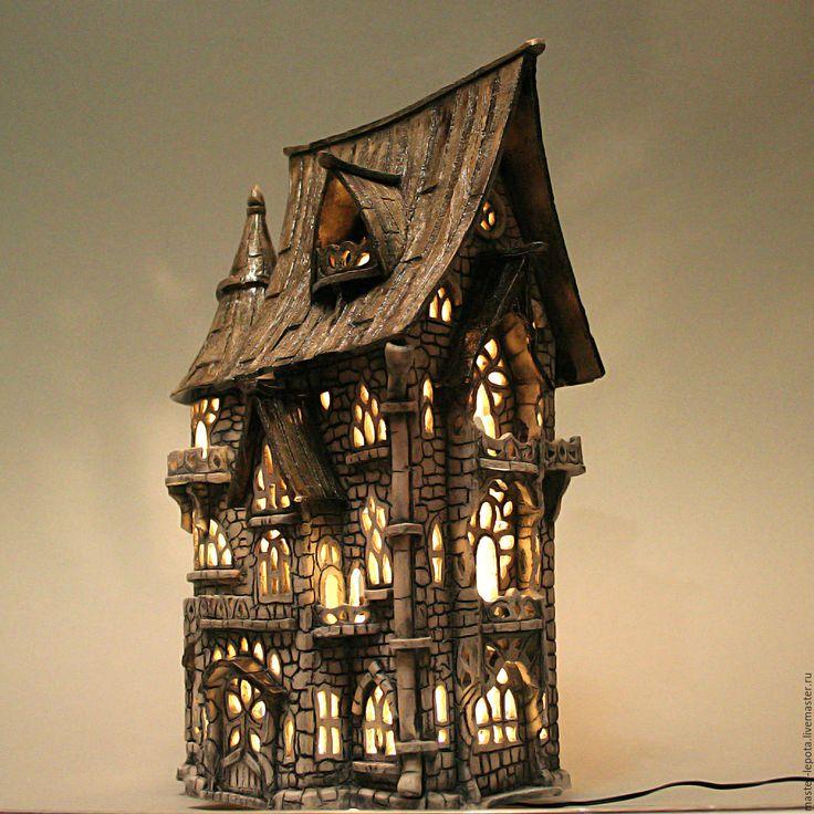 """Купить Замок """"Готфрид"""". керамика - старый город, замок, средневековье, сказка, старина, подсвечник"""