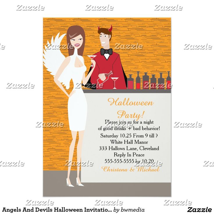 113 best trick or treat halloween party images on pinterest angels and devils halloween invitation ca stopboris Images