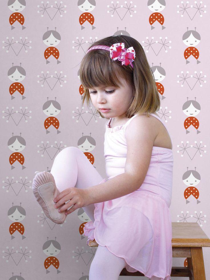Designer 'Zofka' wallpaper for children ǀ minideco.co.uk