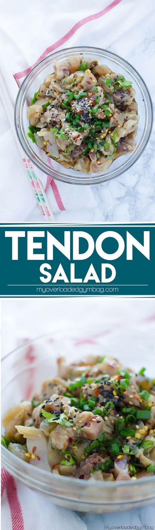 Low FODMAP, gluten free. A nutritious, protein-rich salad, that will help keep you looking youthful. | http://myoverloadedgymbag.com