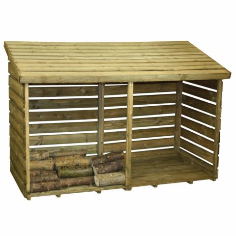 Winchester 3ft x 6ft Double Log Store – Next Day Delivery Winchester 3ft x 6ft Double Log Store