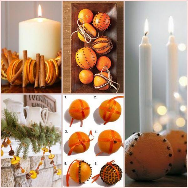 weihnachtsdeko ideen mit orangen