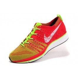 Nike Flyknit Trainer+ Unisex Rød Grønn | Nike billige sko | kjøp Nike sko på nett | Nike online sko | ovostore.com