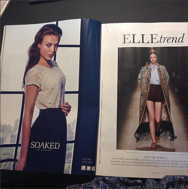 Soaked in Luxury top and skirt in danish ELLE Magazine