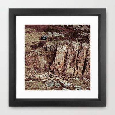 CLIMBER Framed Art Print by lilla värsting - $32.00