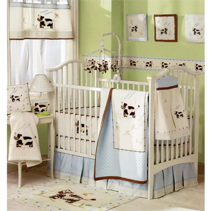 Image Detail For Moo Cow Baby Crib Bedding Set Monstermarketplace