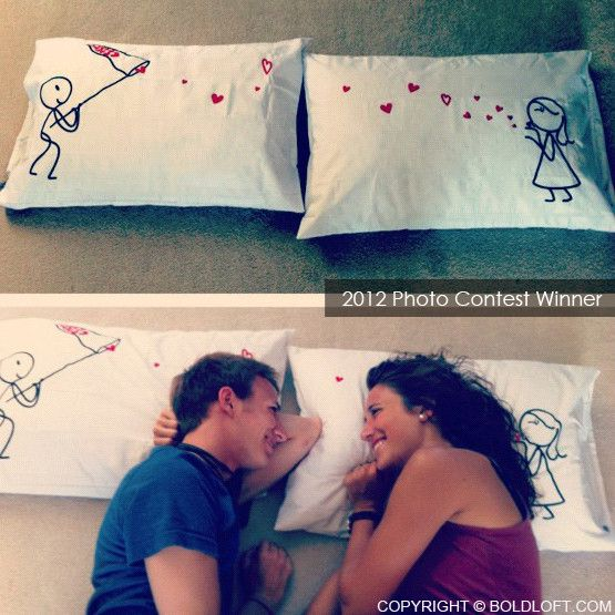 "Get these pillowcase set for only $26.99. Perfect Christmas gifts for boyfriend or husband. BoldLoft ""Catch My Love™"" His & Hers Couple Pillowcases. #giftsforhim #sale #christmasgiftsforhim"