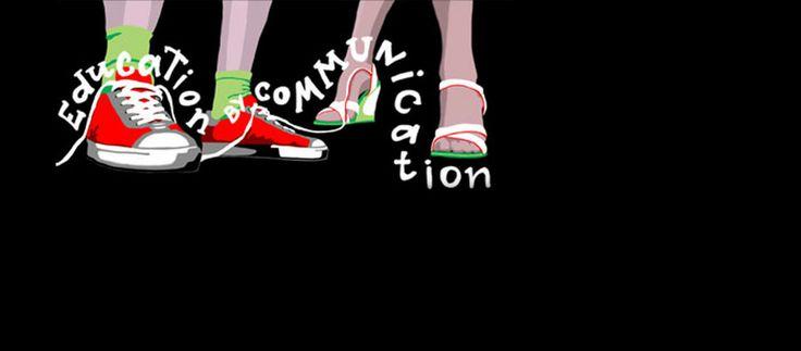 """Конкурс студенческого плаката """"Education by communication"""". Работа была удостоина дипломом участника регионального конкурса молодых дизайнеров """"Арбуз город+"""""""