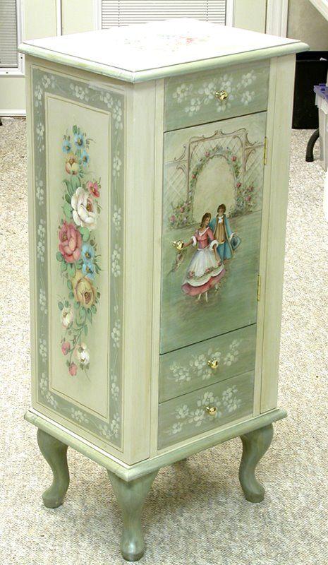 Ikke osmaling, men fargekombinasjonen er uovertruffen!   Jewelery Box - Jansen-Art-Studio - http://jansenartstudio.com/