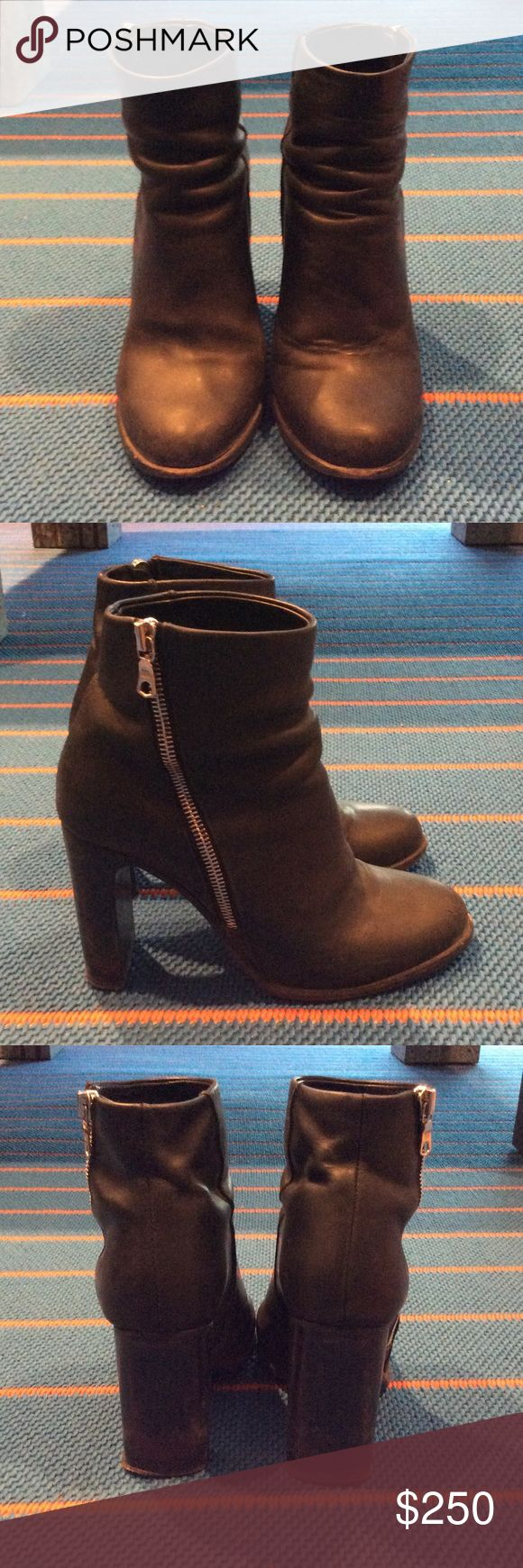 Rag and Bone Black Bootie Get ready for winter in this perfect bootie to take you from day into night. Pair with jeans for brunch and switch into your fav little black dress for a chic New York City look. Show signs of damage as pictured. Heel needs an easy replacement. rag & bone Shoes Ankle Boots & Booties