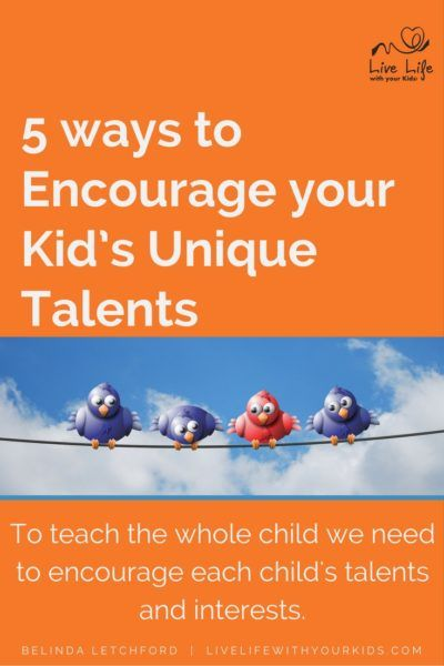 Each child has unique talents, abilities and interests - it is the parents job…