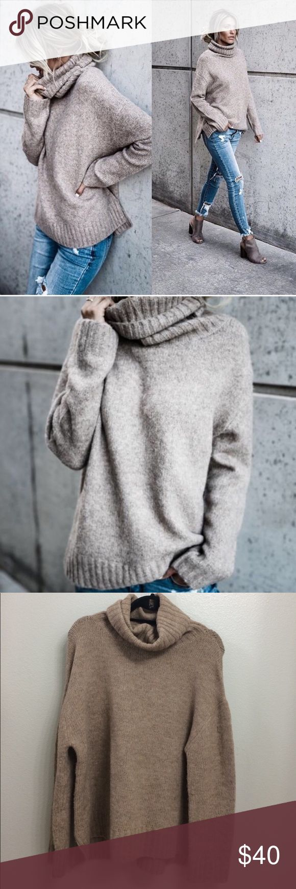 VICI Henry sweater in Oatmeal Small Soft turtleneck tried ...