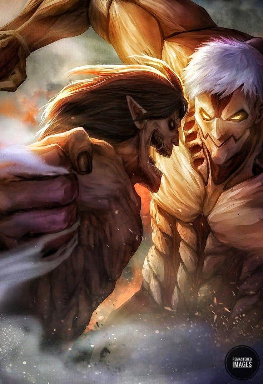 Eren Vs Reiner Shingeki No Kyojin Titan Cuirasse Fond D Ecran Dessin Avatar Personnage
