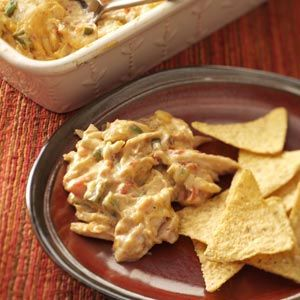 Warm Chicken Fiesta Dip using Rotisserie Chicken