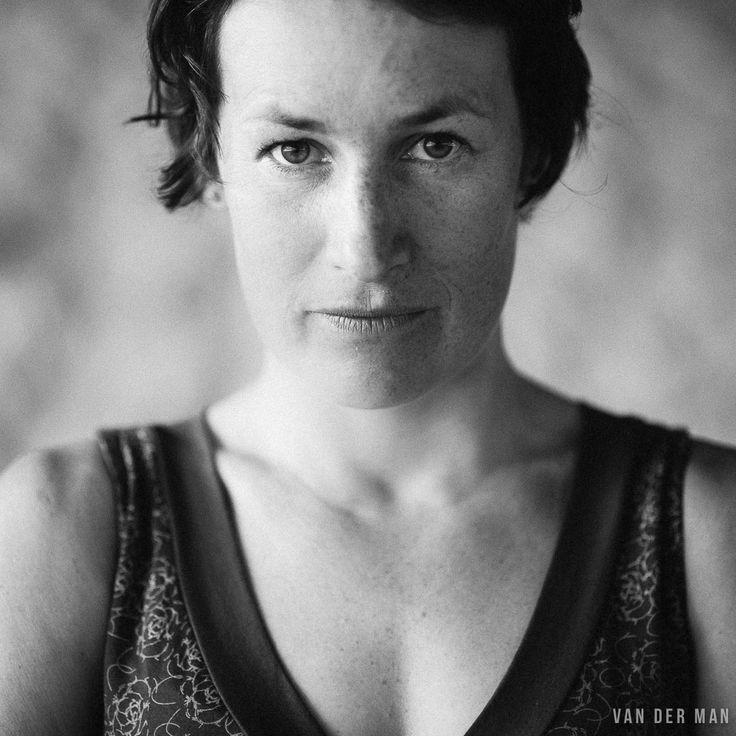 female portrait, portrait, black and white